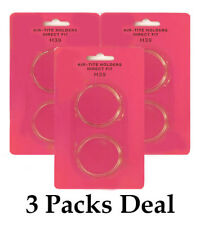 3 AirTite Direct Fit H39 Clear Round Capsules For 39mm Coins Long Term Storage