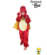 KIDS CHILDRENS DELUXE CHINESE WELSH RED DRAGON COSTUME OUTFIT GIRLS BOYS AGE 3-7