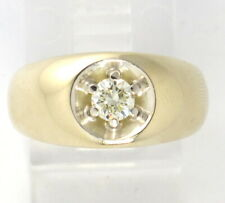 Solitaire Engagement/Right Hand Ring .25ct 14k Yellow Gold Round Diamond
