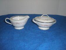 Noritake Rosepoint Creamer and Covered Sugar Bowl