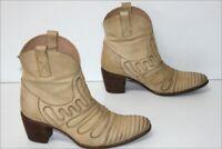 MURATTI Bottines Boots Tout Cuir Beige T 36 BE