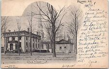 Vintage photo Postcard Rome NY New York Old Academy