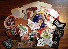 FIREMAN FIRE DEPARTMENT FIREFIGHTERS PATCHES & DECAL STICKER Lot FOREIGN