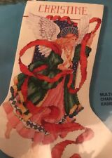 VTG 1994 Bucilla #83108 Counted Cross Stitch Stocking Kit-Celestial Angel-Sealed