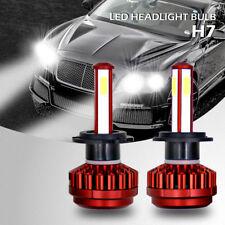 2x H7 COB LED Headlight Bulb Kit 200W 24000LM High Low Beam Headlamp 6500K White