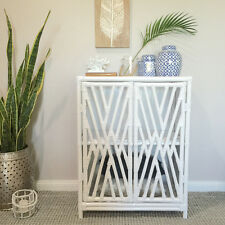 White Rattan Cabinet/Buffet/SideBoard/Hampton's/Coastal/Storage Hall Table