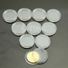 Hot 22mm Clear Round Cases Coin Storage Capsules Holder Round Plastic