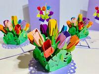 ORIGAMI POP CARDS Giant Birthday Cake 3D Pop Up Greeting Card Birthday Love Fun