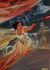 STAR WARS Princess LEIA 1 ROSS VIRGIN Euro Variant Paris Comic Con May 4th Force