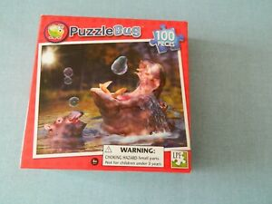 New Puzzle By Puzzle Bug 100pcs Hippos And Bubbles Age 6+