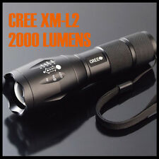 1000 Lumen Tactical Zoomable CREE XM-L T6 LED 5-Mode Flashlight Torch Focus Lamp