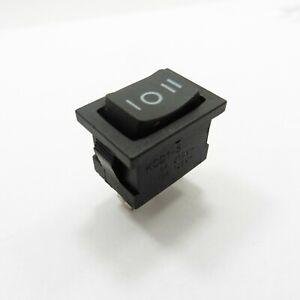 ON/OFF/ON Rocker 3 Pin Switch 250V 125V 6A 10A Button SPDT Black