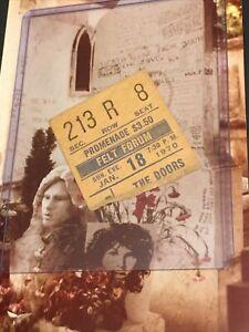 THE DOORS Original 1970 CONCERT Jim Morrison TICKET Madison Sq Garden Felt Forum