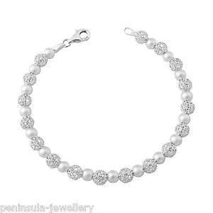 "Sterling Silver Bracelet Ladies 7.5"" Filigree Rollerball Gift Boxed Hallmarked"