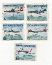 Aviation Used Papua New Guinean Stamps