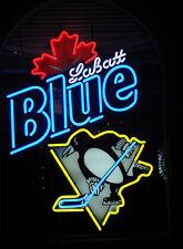 "New Labatt Blue Light Pittsburgh Penguins NHL Beer Neon Sign 24""x20"""