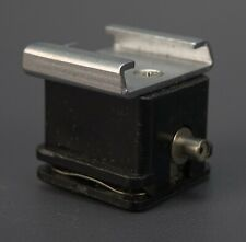 HOT SHOE to PC Male Cable Sync Flash Socket / Port Adapter. Germany