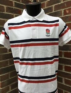 England Rugby Polo Shirt Official RFU White T-Shirt Tee Top Men's Size S,M,L NEW