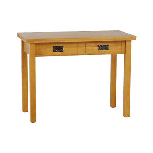 MECO Stakmore Solid Wood Traditional Expanding Dining Table Console, Oak Frame