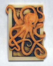 Harmony Kingdom Artist Neil Eyre Designs Orange Ocean Sea Life Octopus Magnet