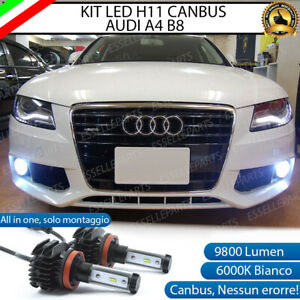 KIT FULL LED LAMPADE H11 6000K 9800 LM CANBUS FENDINEBBIA AUDI A4 B8 / A4 AVANT