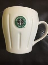 STARBUCKS 2003 BARISTA WHITE PLEATED MERMAID LOGO 18 OZ MUG Coffee Pre-Owned