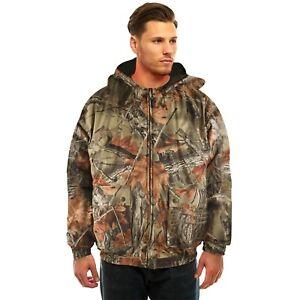 Mens Tactical Hoodie Jacket – Insulated & Waterproof Warm Camo Hunting Gear Coat