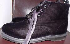 Dr. Martens Doc Docs Lana Velvet Ribbon Lace Up Ankle Boots Black NWOB 9 us