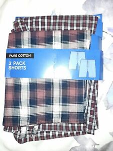 BNWT M&S MENS Size Small PYJAMA SHORTS 2 Pack Pure Cotton