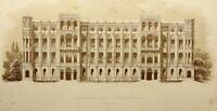 Neugotischer Fassadenentwurf für die Maximiliansstraße München, 1855, Lith.