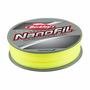 BERKLEY NANOFIL - 125m - Hi VIS CHARTREUSE - VARIOUS WEIGHTS