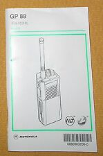 + Motorola GP88 Hand Held Portable Radio Operating Instructions Manual