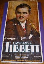 "Vintage LAWRENCE TIBBETT Advertising POSTER 78""x40"" USA Opera 30s Bar Theatre"