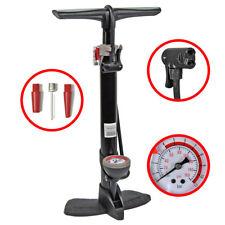Alu-Standfußpumpe mit Manometer Luftpumpe Standpumpe Fahrradpumpe Balpumpe Pumpe
