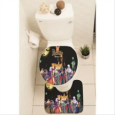 Disney Villain Set of 3 Bathroom Rug Set Mat Toilet Lid Cover y70 w0016