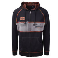 Harley-Davidson Men's Black Iron Block Two Tone L/S Hoodie (S02)