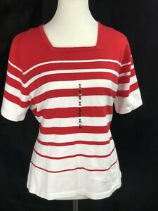 Croft & Barrow Red White Sweater Size XL