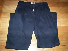 MENS ROUNDTREE & YORK CASUAL 36X36 BLACK PANTS, 100% COTTON WITH CUFF'S