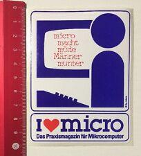 Aufkleber/Sticker: I Love Micro - Praxismagazin Für Mikrocomputer (230416138)