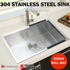 700x450mm 304 Stainless Steel Kitchen Sink Top/Undermount Handmade Single Bowl