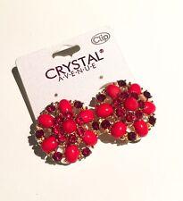 Round Pearl Gem Diamanté Clip on Earrings Studs Clips Ear Fashion Jewellery Gift