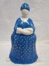 Dept 56 Cookie Jar ~ Peasant People Lady in a Blue Polka Dot Dress