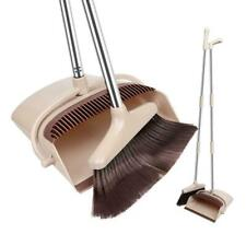 Broom And Dustpan Set Vertical Brush And Dust Pot Combination Upright Cleaning
