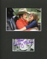 Sally Field Smokey and the Bandit Signed Autograph Photo Display W Burt Reynolds