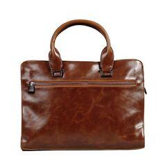 Men's Vintage PU Leather Messenger Satchel Shoulder Briefcase Tote Business Bag