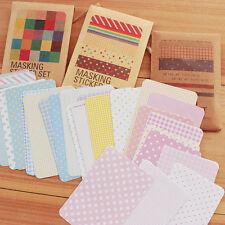 27Pcs Decorative Washi Masking Tape Craft Stickers Pack Labelling Scrapbooking,P
