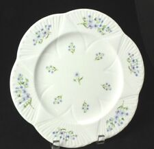 "SHELLEY ""Blue Rock""  11"" Dinner Plate, White Dainty Shape, Style # 13591"
