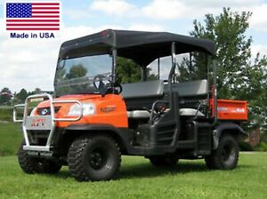 ROOF & HARD WINDSHIELD for Kubota RTV1140 - Soft Top Material - Polycarbonate