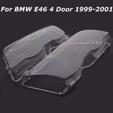 2x Scheinwerfer Linsen Glas Links+Rechts Streuscheiben für BMW 3er E46 1998-2001
