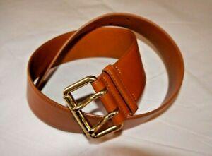 Ralph Lauren Made in Italy Genuine Light Brown Leather Belt sz.XL $450 BNWT
